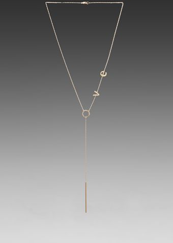 Jennifer Zeuner Love Lariat Necklace in Metallic Gold - Lyst