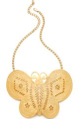 Kenneth Jay Lane Butterfly Necklace - Lyst