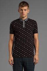 Marc By Marc Jacobs Morris Star Polo in Black - Lyst