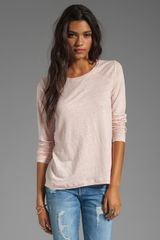 Marc By Marc Jacobs Martha Jersey Long Sleeve Top in Pink - Lyst