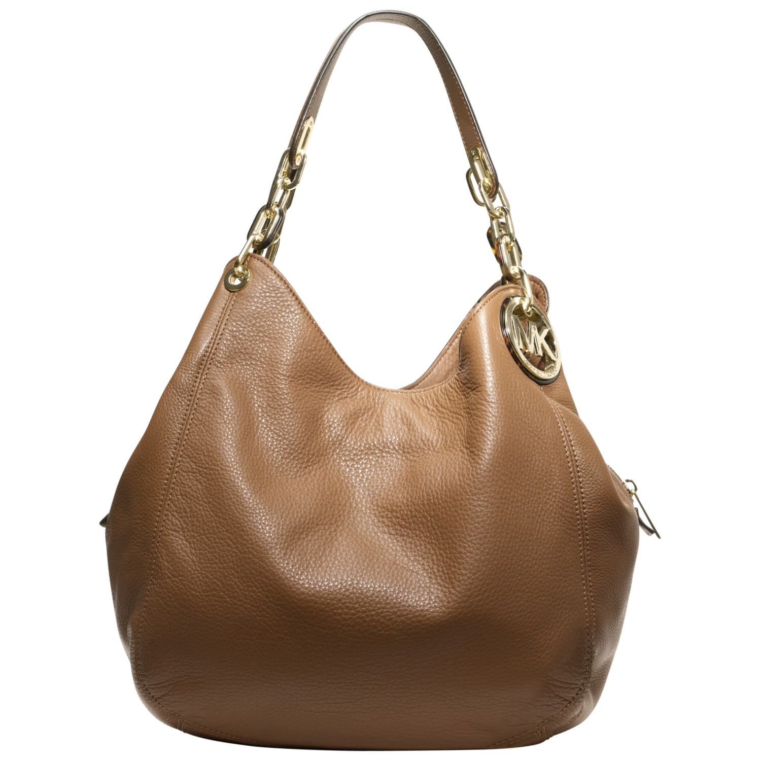 michael michael kors large fulton hobo bag in brown tan. Black Bedroom Furniture Sets. Home Design Ideas
