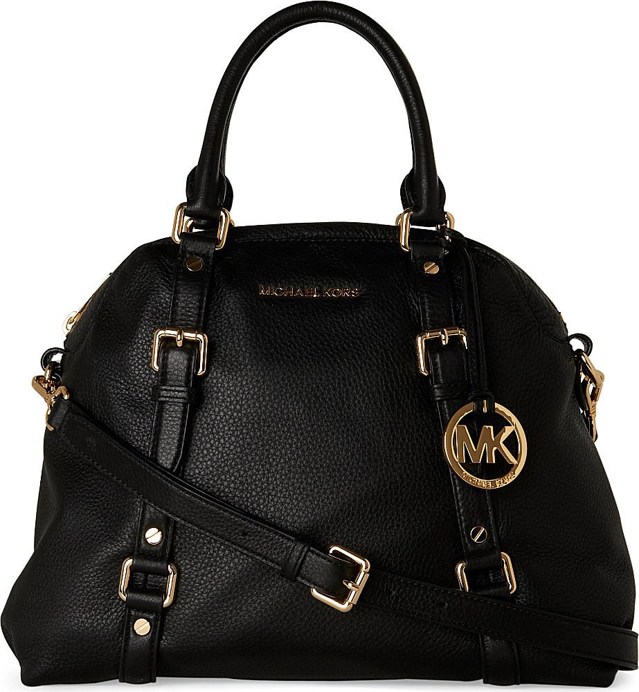 Lyst Michael Kors Bedford Large Bowling Bag In Black