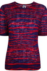 Missoni Striped Bicolour Tee - Lyst
