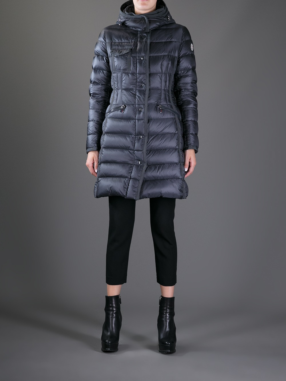 Moncler Hermine Padded Jacket In Blue Lyst
