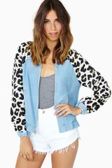Nasty Gal Catty Bomber Jacket - Lyst
