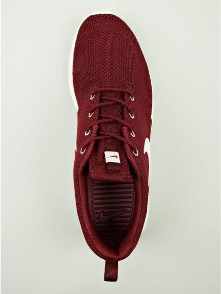 Nike Mens Burgundy Roshe Run Sneakers in Red for Men (burgundy) | Lyst