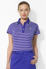 Ralph Lauren Golf Slimfit Striped Cotton Polo - Lyst