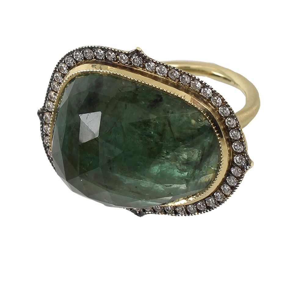 49e2264aac7 Lyst - Sylva   Cie Thorn Shape Emerald Ring in Green