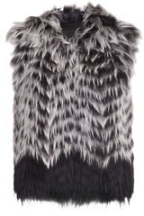 Yigal Azrouel Hooded Fur Vest - Lyst