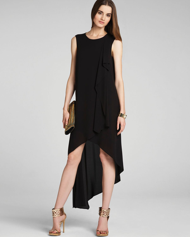 Lyst - Bcbgmaxazria Dress Hailey Draped in Black