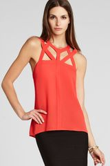 BCBGMAXAZRIA Tank Jada Cut Out - Lyst
