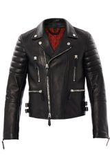 Burberry Prorsum Leather Biker Jacket