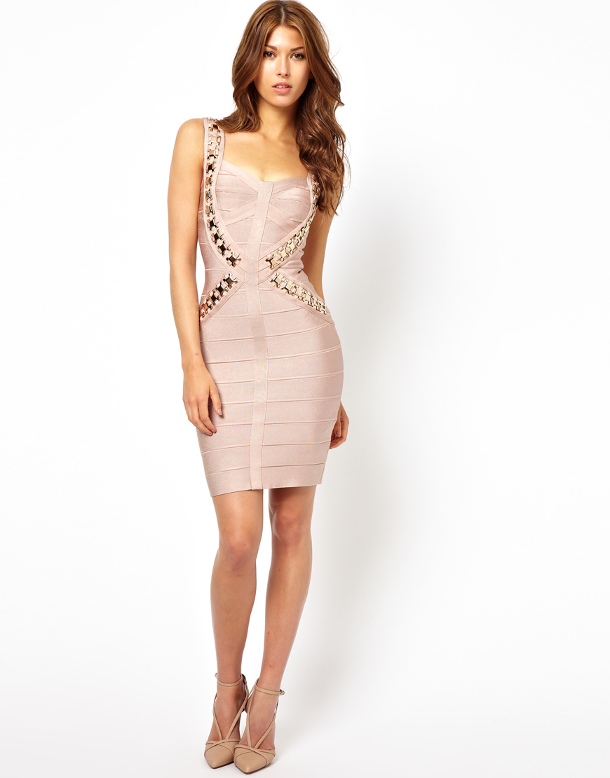 Forever Unique Bodycon Dress in Pink - Lyst 98657a458df4