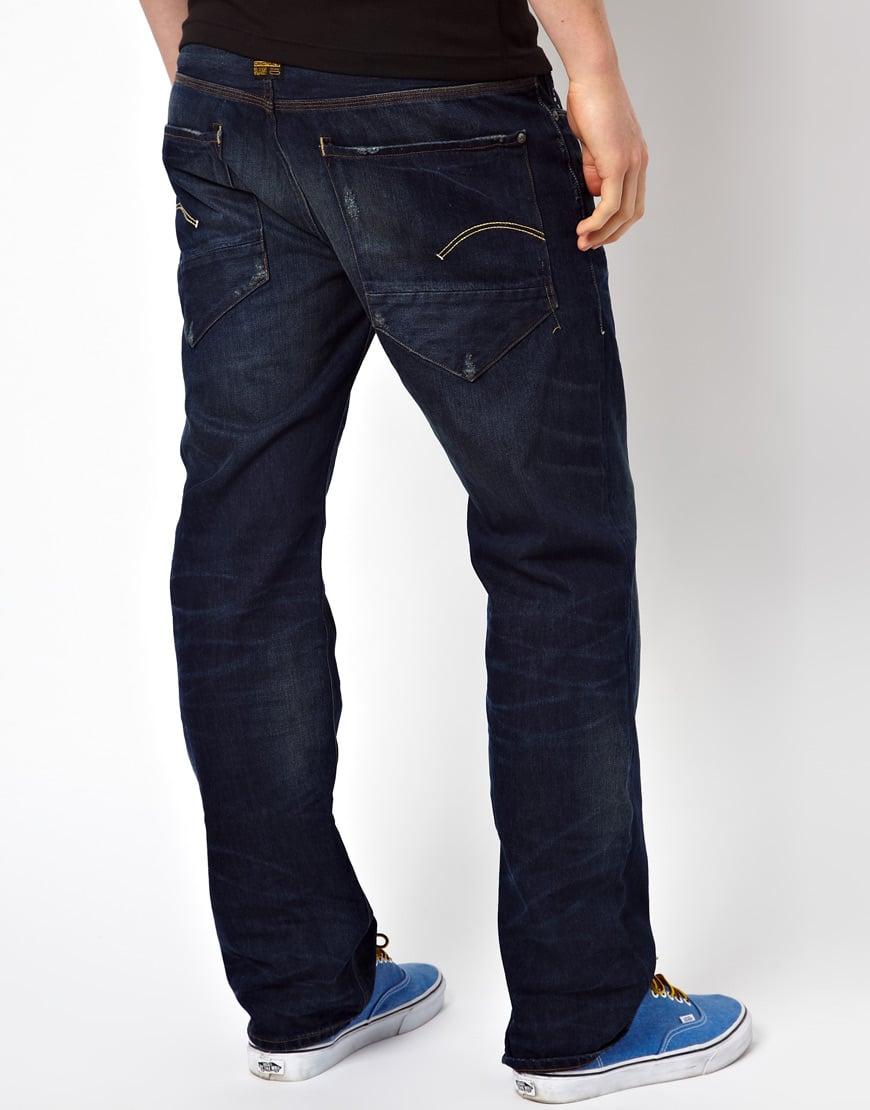 g star raw g star jeans new radar loose medium aged in blue for men lyst. Black Bedroom Furniture Sets. Home Design Ideas