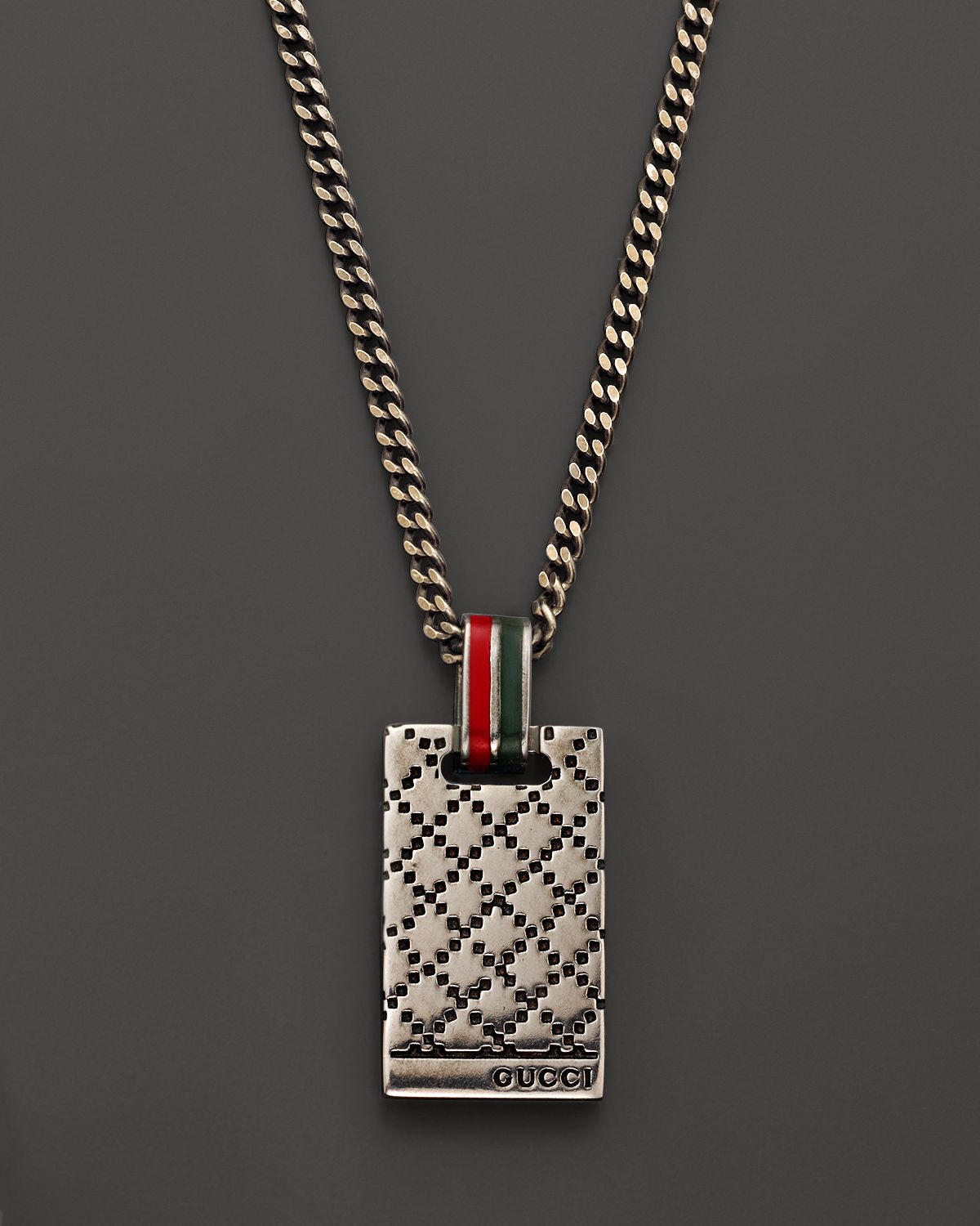 gucci necklace mens. gucci diamante sterling silver pendant necklace 195 in metallic; men mens