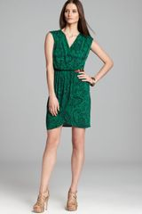 Michael by Michael Kors Faux Wrap Dress - Lyst