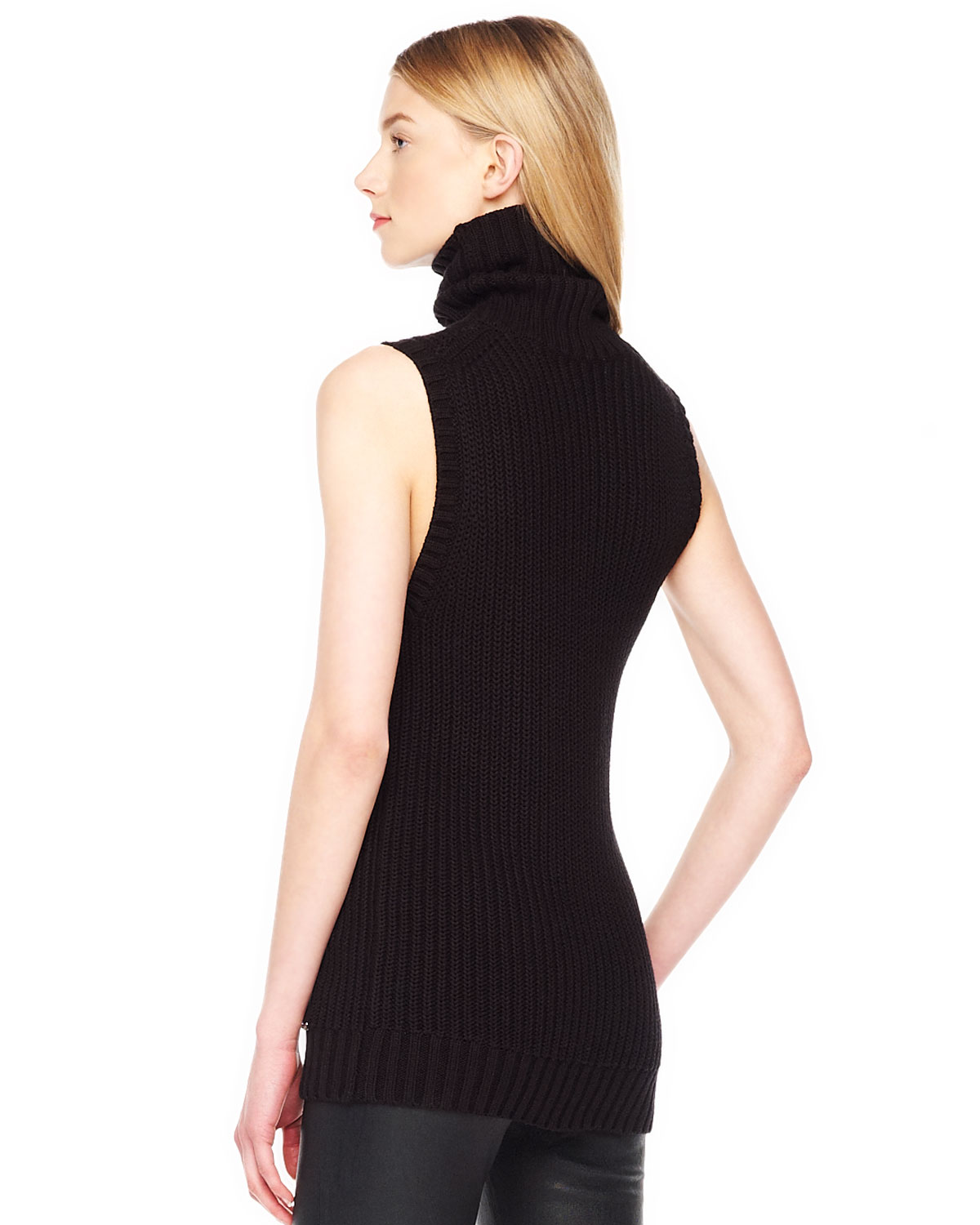 Sleeveless Cable Knit Sweater