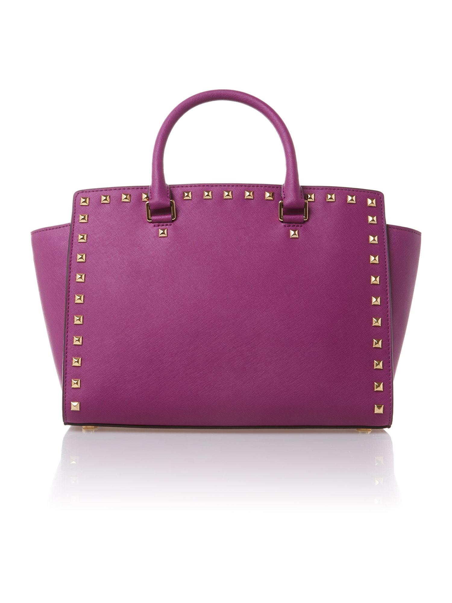 Michael Kors Selma Purple Tote Bag In Purple Lyst