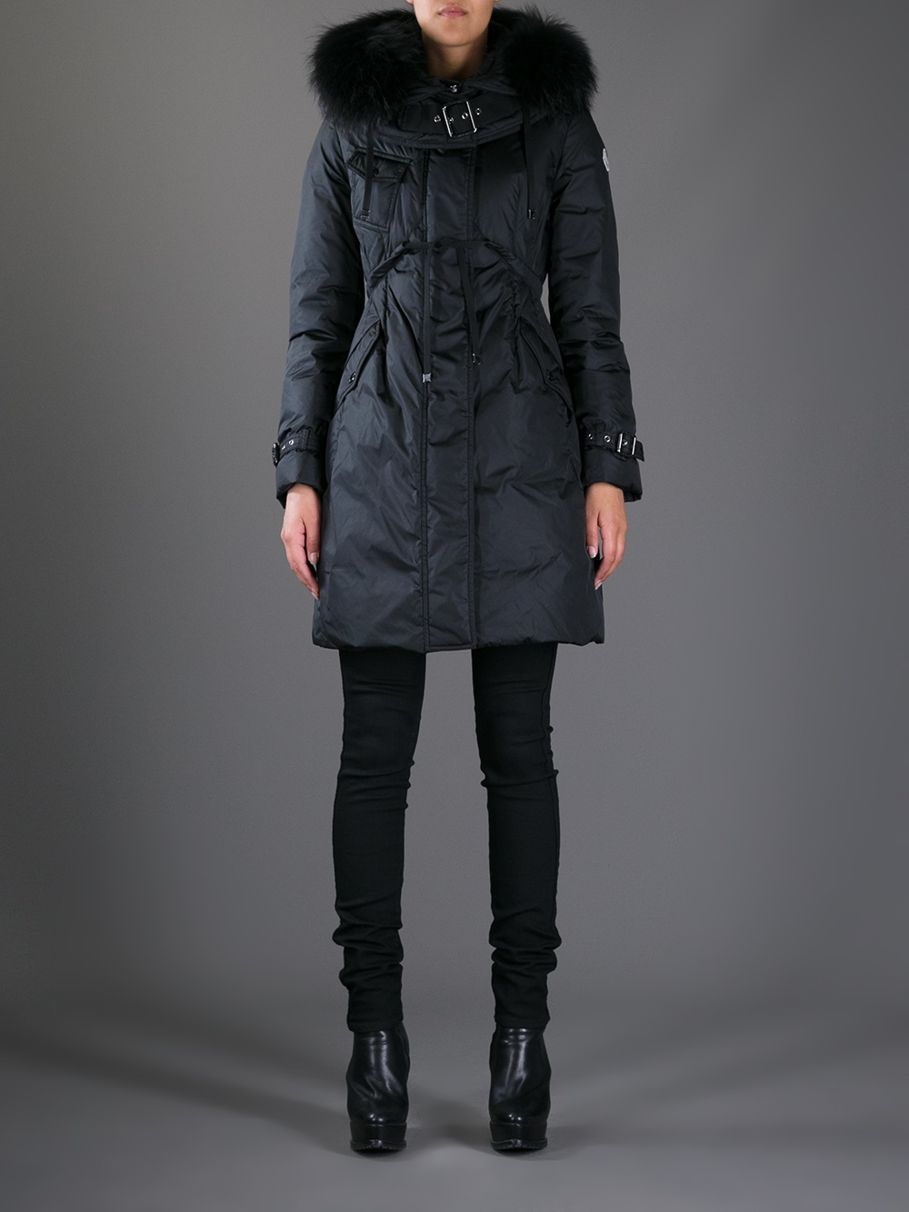 f529e467d france moncler phalangere fur trimmed coat hangers fb847 1351e
