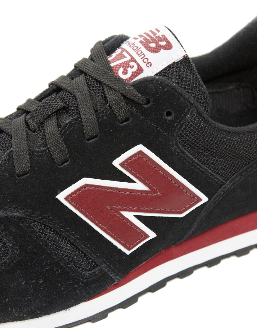 new balance 373 grey red