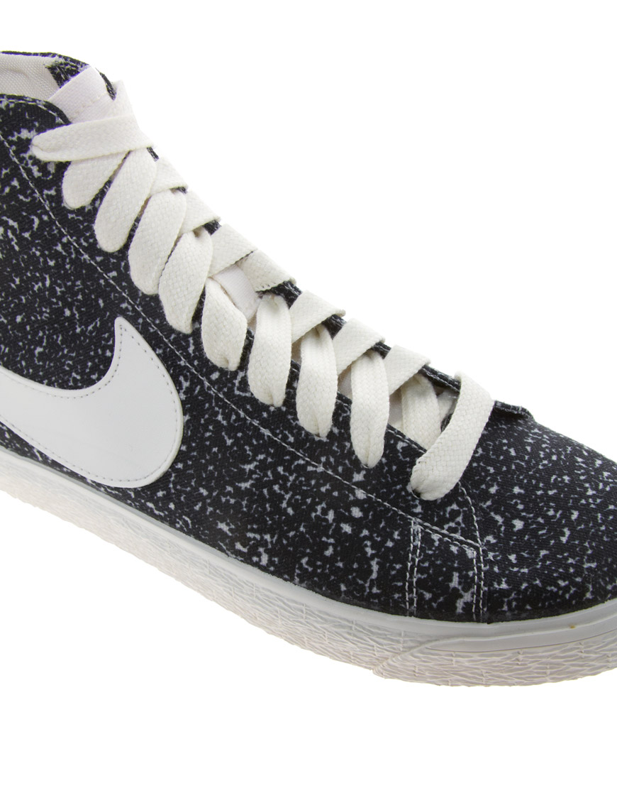 nike blazer decon cvs mid black high top trainers shoes