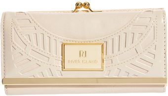 River Island Deco Detail Clip Top Purse - Lyst