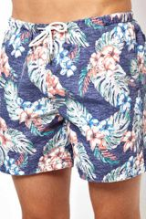 Asos River Island Multi Floral Swim Short - Lyst