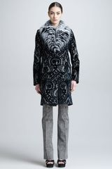 Roberto Cavalli Coat with Fox Fur Collar - Lyst