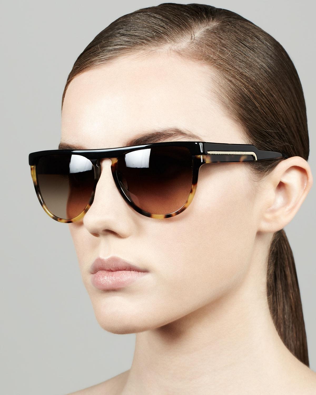 Stella Mccartney Sunglasses  stella mccartney halfrim sunglasses black in black lyst