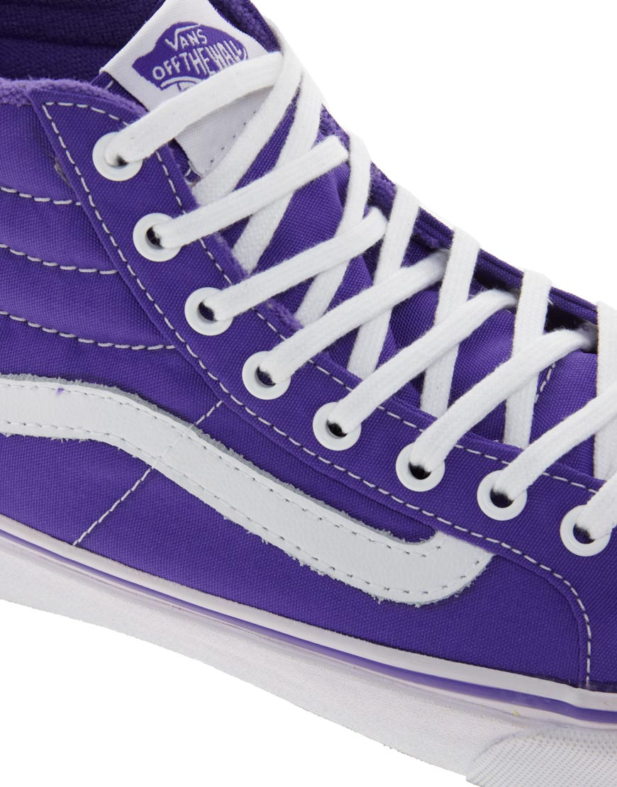 vans sk8 hi slim purple
