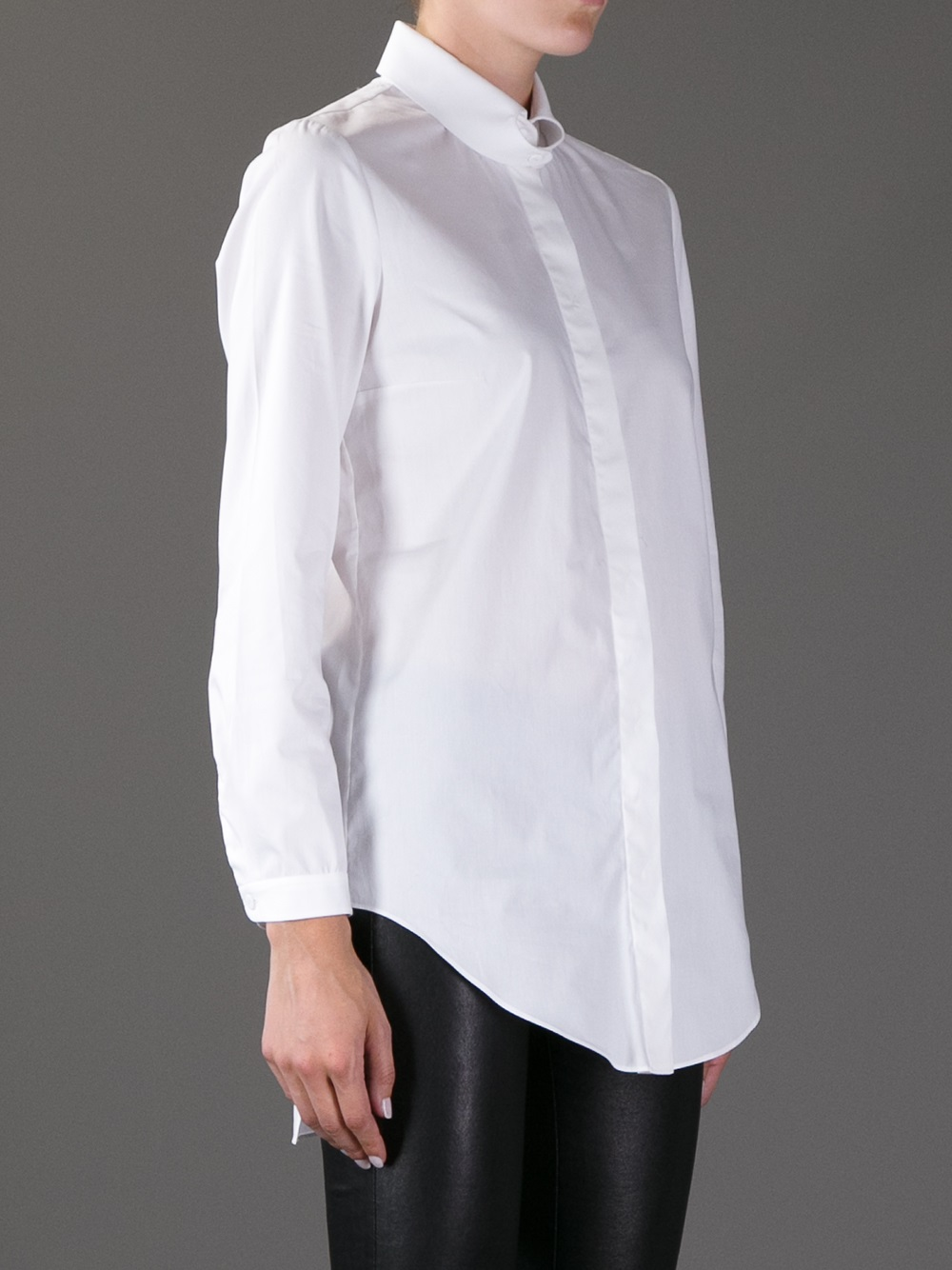 Carven white dress collar.