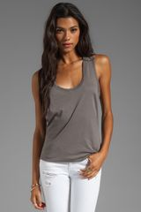 C&c California Light Weight Classic Jersey Shirt Tail Tank in Gray - Lyst