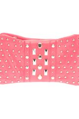 DKNY Studded Leather Clutch - Lyst