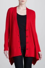 Donna Karan New York Ribbed Trapeze Cardigan - Lyst