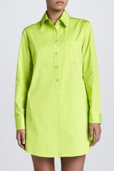 Michael Kors Poplin Shirt Dress Acid - Lyst