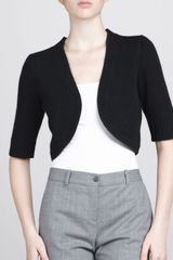 Michael Kors Cashmere Shrug Black - Lyst
