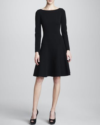 Michael Kors Crepe Fit and flare Dress - Lyst