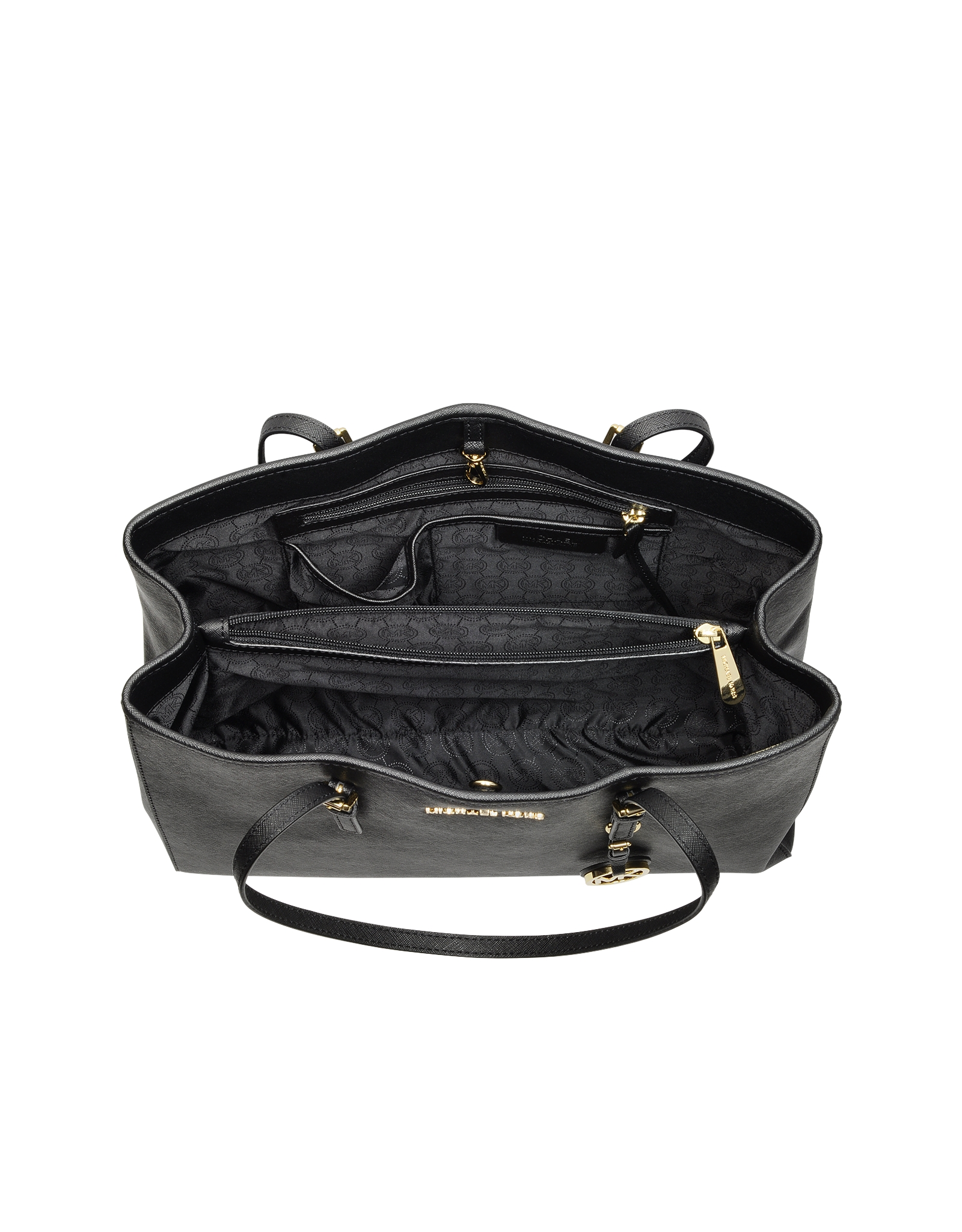 80f45e3696e1 ... click thumbnail to zoom. found 1c977 5ecbb; promo code for michael kors  jet set travel saffiano leather tote in black lyst 221dc 8c73a