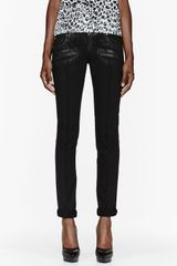 Pierre Balmain Black Slim Riding Jeans - Lyst