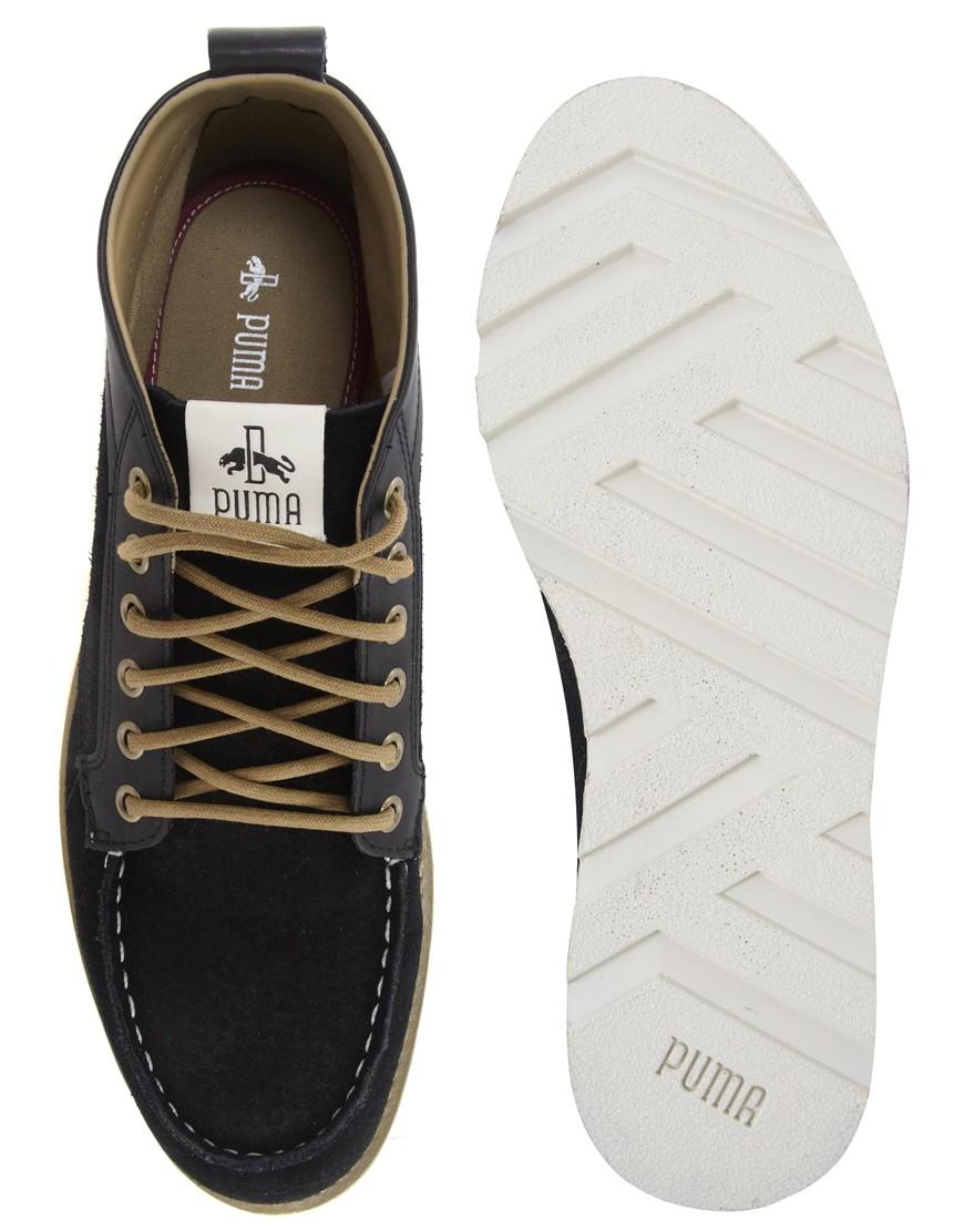 Lyst - Puma Puma By Rudolf Dassler Ruckholz Mid Chukka Boots in Black for  Men