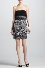Sue Wong Beaded Strapless Cocktail Dress - Lyst