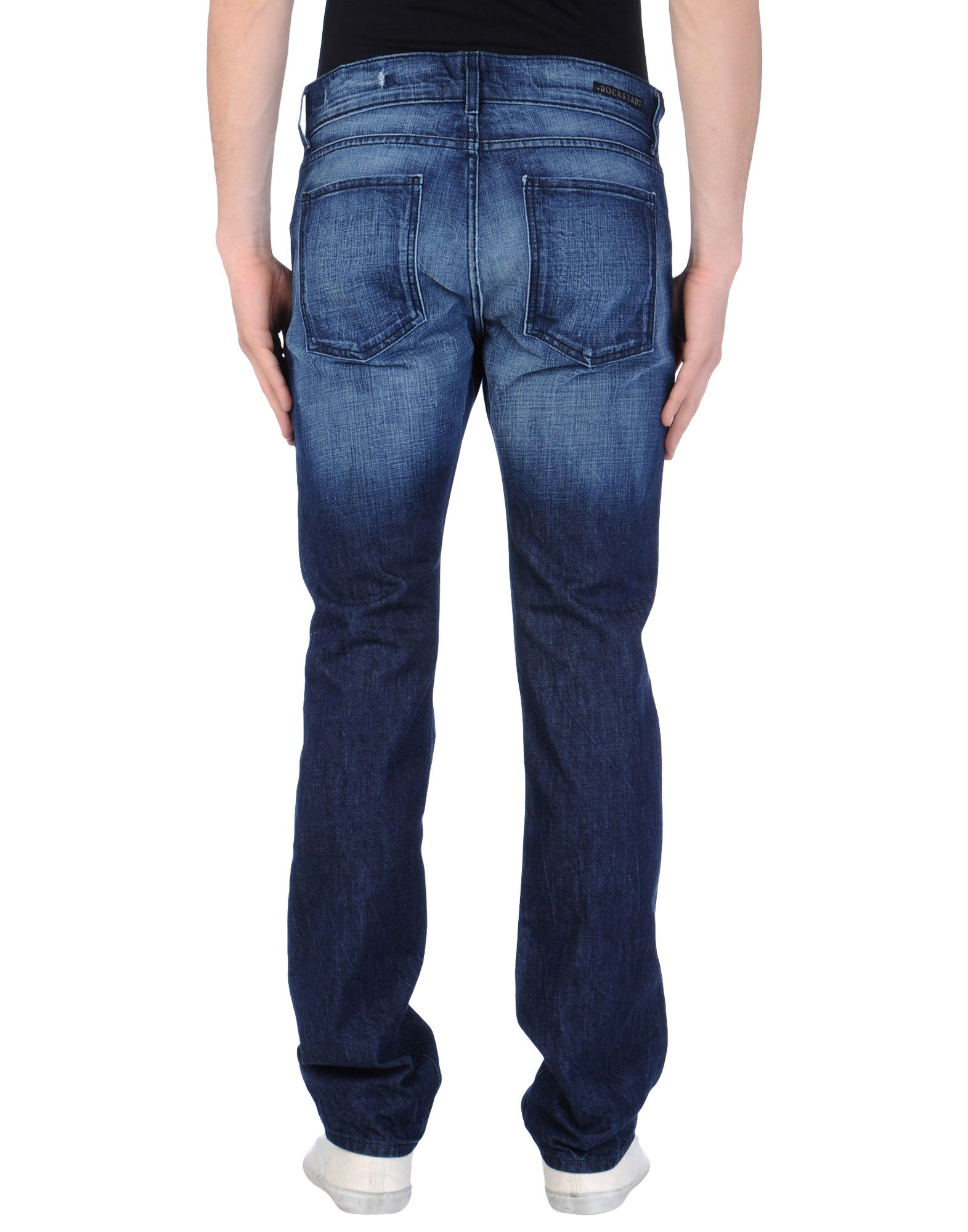 Rockstar Distressed Straight Jeans in Blue for Men | Lyst