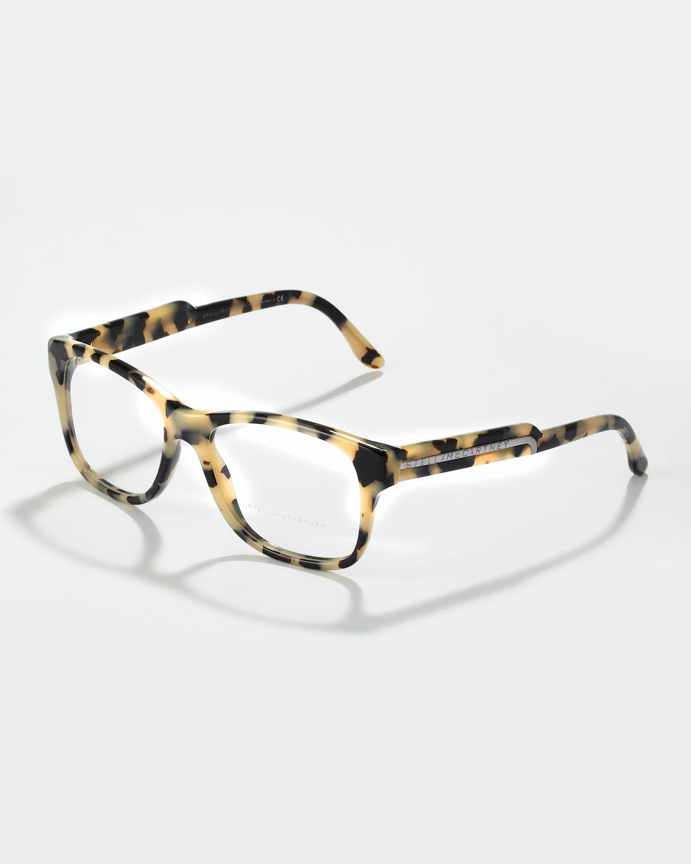 Tortoise Frame Fashion Glasses : Stella mccartney Oversized Square Frame Fashion Glasses ...