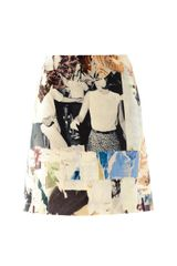 Carven Collage Print A-line Skirt - Lyst