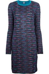 M Missoni Knit Bicolour Dress - Lyst