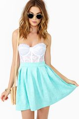 Nasty Gal Dream Flower Skirt Mint - Lyst