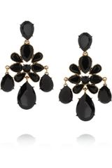 Oscar de la Renta Goldplated Cabochon Clip Earrings - Lyst