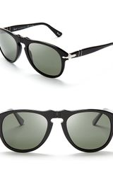 Persol Suprema Polarized Retro Keyhole Sunglasses - Lyst