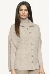 Ralph Lauren Black Label Suede Trimmed Wool Cape - Lyst