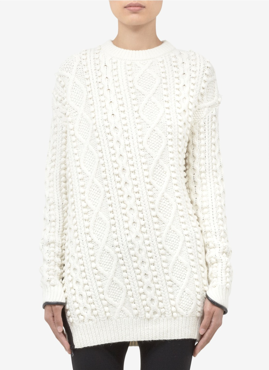 Off-White Panelled Cable Knit Sweatshirt 3.1 Phillip Lim Cheap Sale Choice Free Shipping Footlocker Finishline Factory Price M2o8kp9